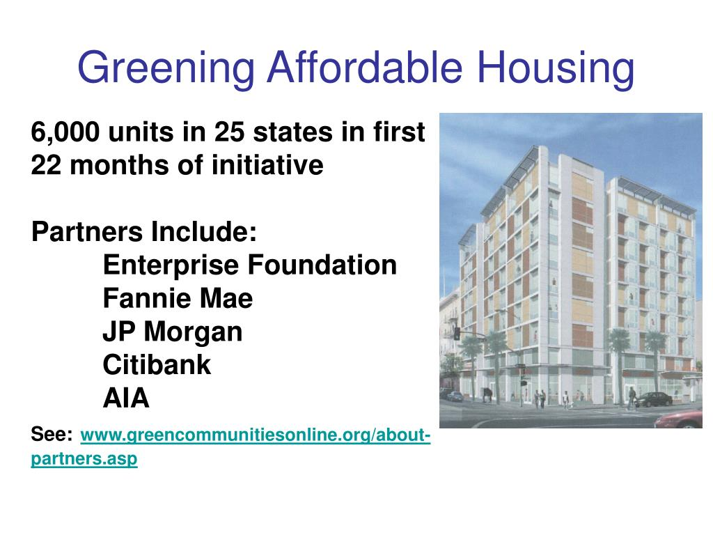 Greening Affordable Housing