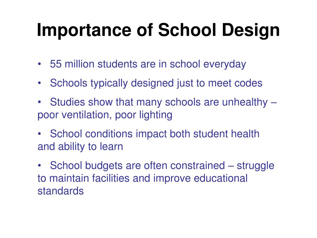 Importance of School Design