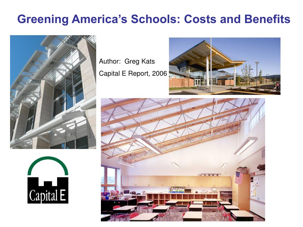 Greening America's Schools: Costs and Benefits