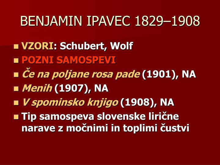 BENJAMIN IPAVEC 1829