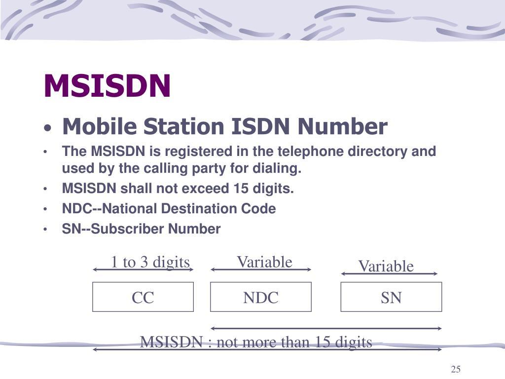 MSISDN