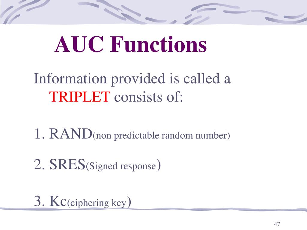 AUC Functions