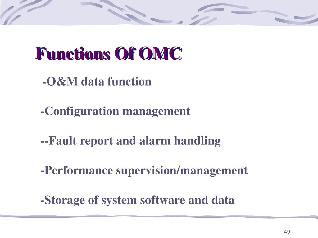 Functions Of OMC