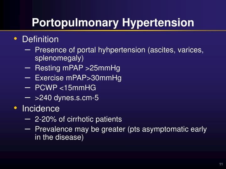 PPT - Portopulmonary Hypertension (PAH in the setting of..
