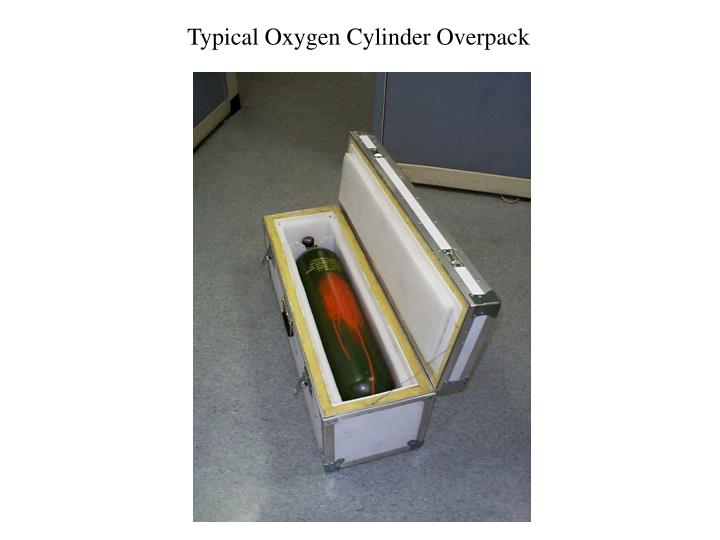 Typical Oxygen Cylinder Overpack