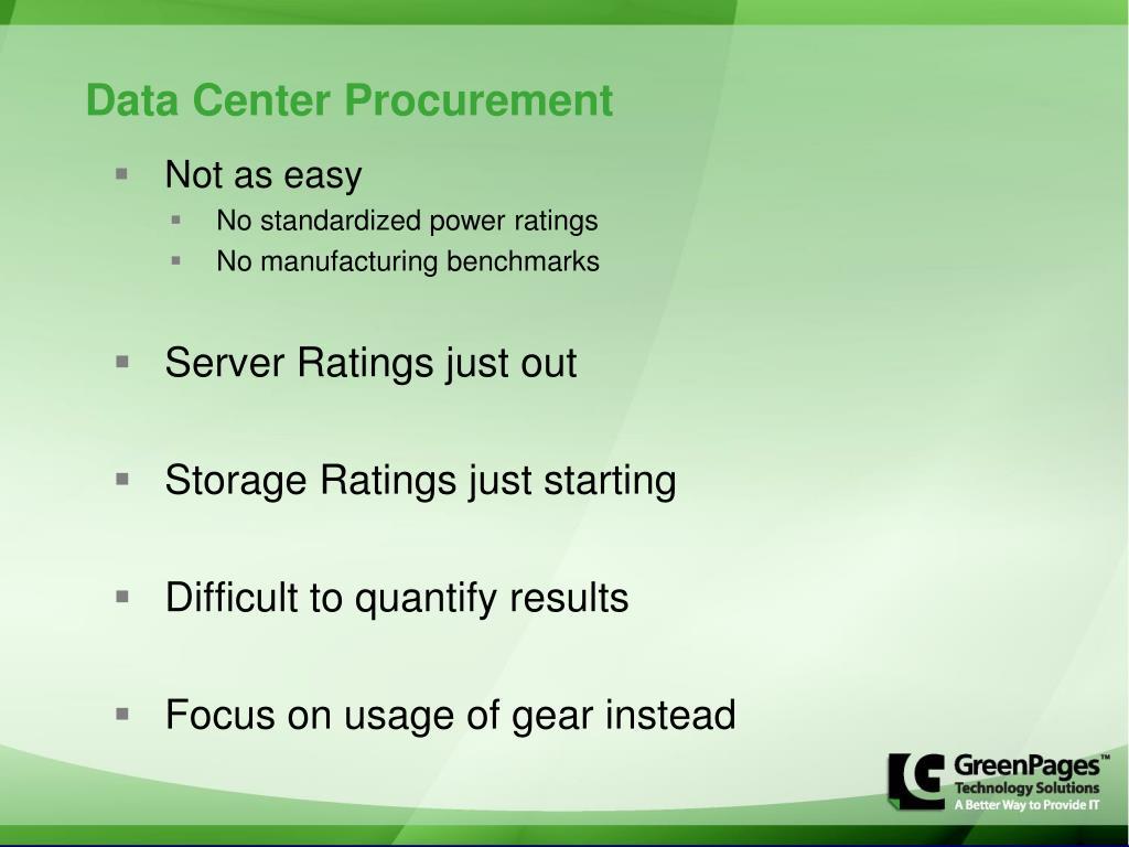 Data Center Procurement