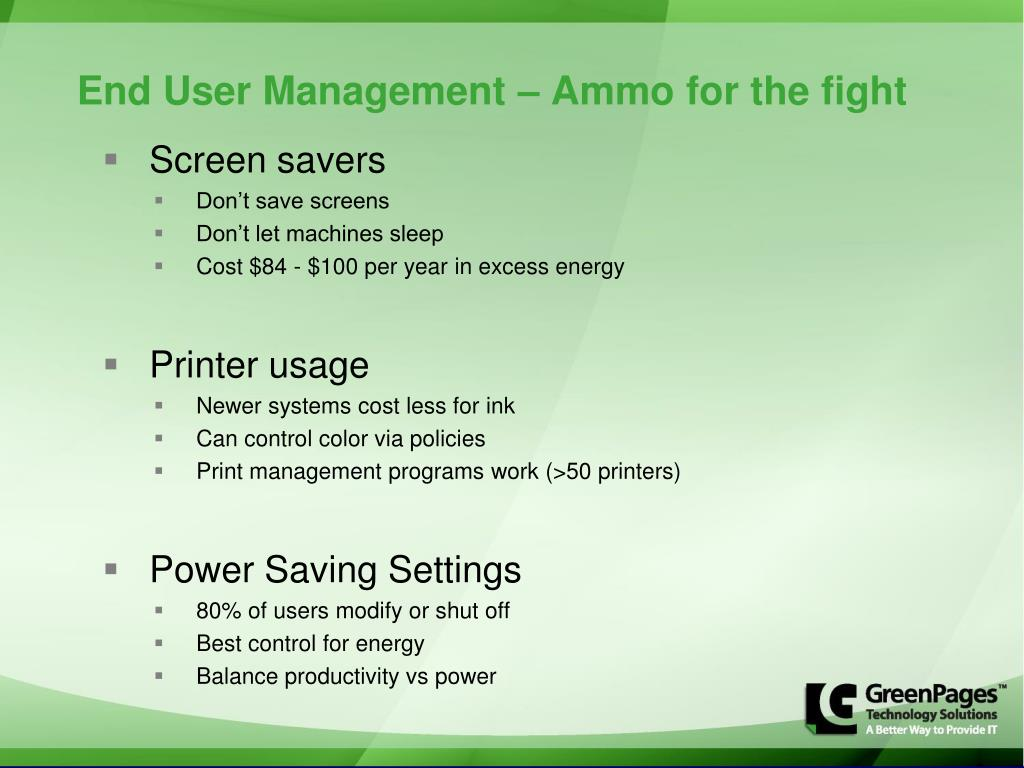 End User Management – Ammo for the fight