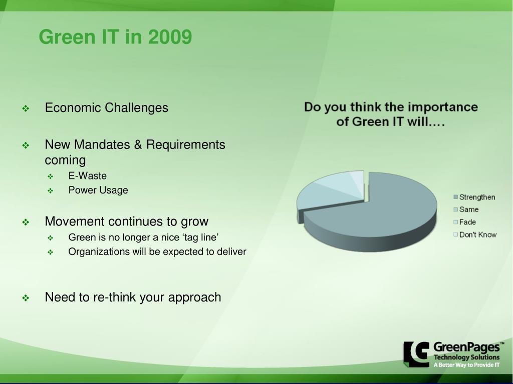 Green IT in 2009