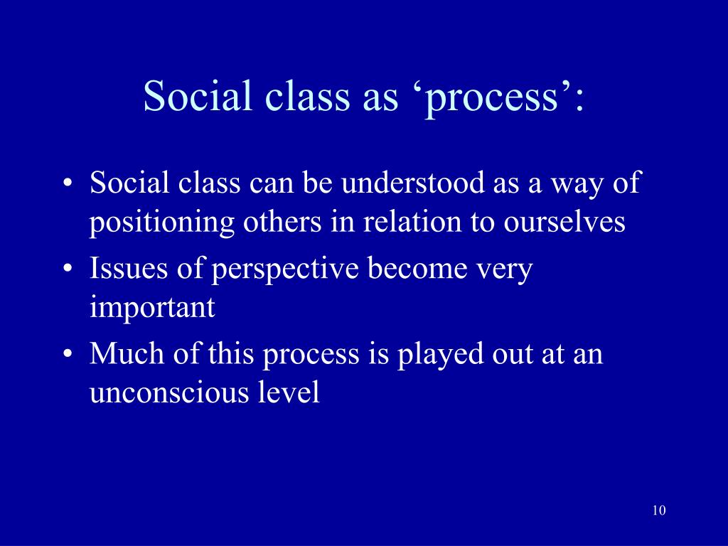 classification of social processes This article proposes that meaningful social classification emerges from an  the  theory implies that this process is self-reinforcing, so that.