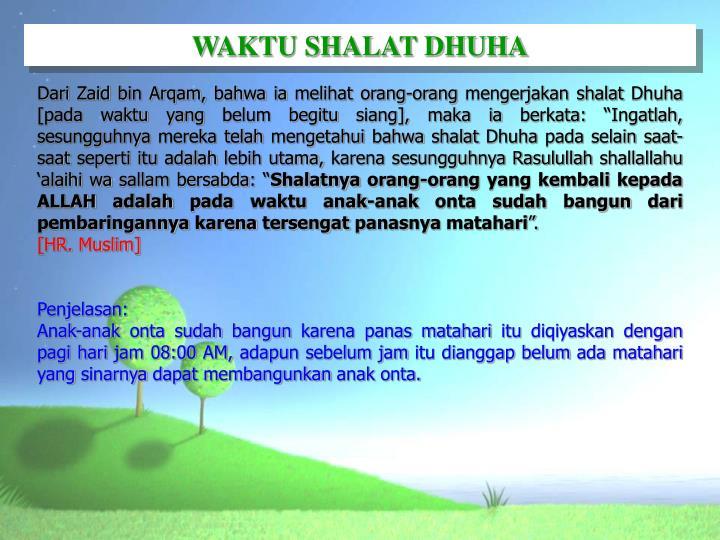 WAKTU SHALAT DHUHA