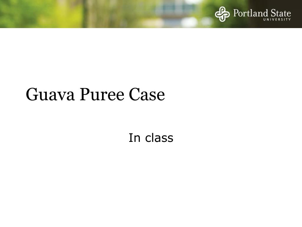 Guava Puree Case