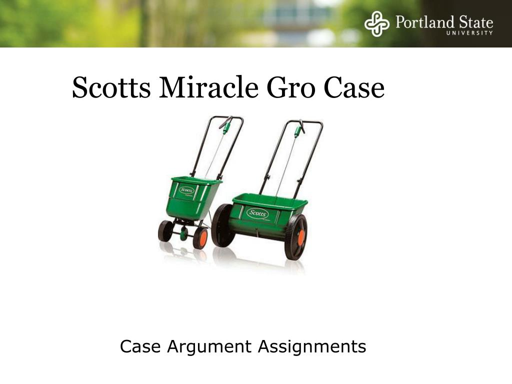 Scotts Miracle Gro Case