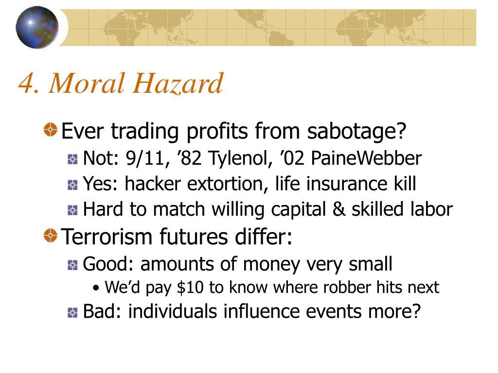 4. Moral Hazard