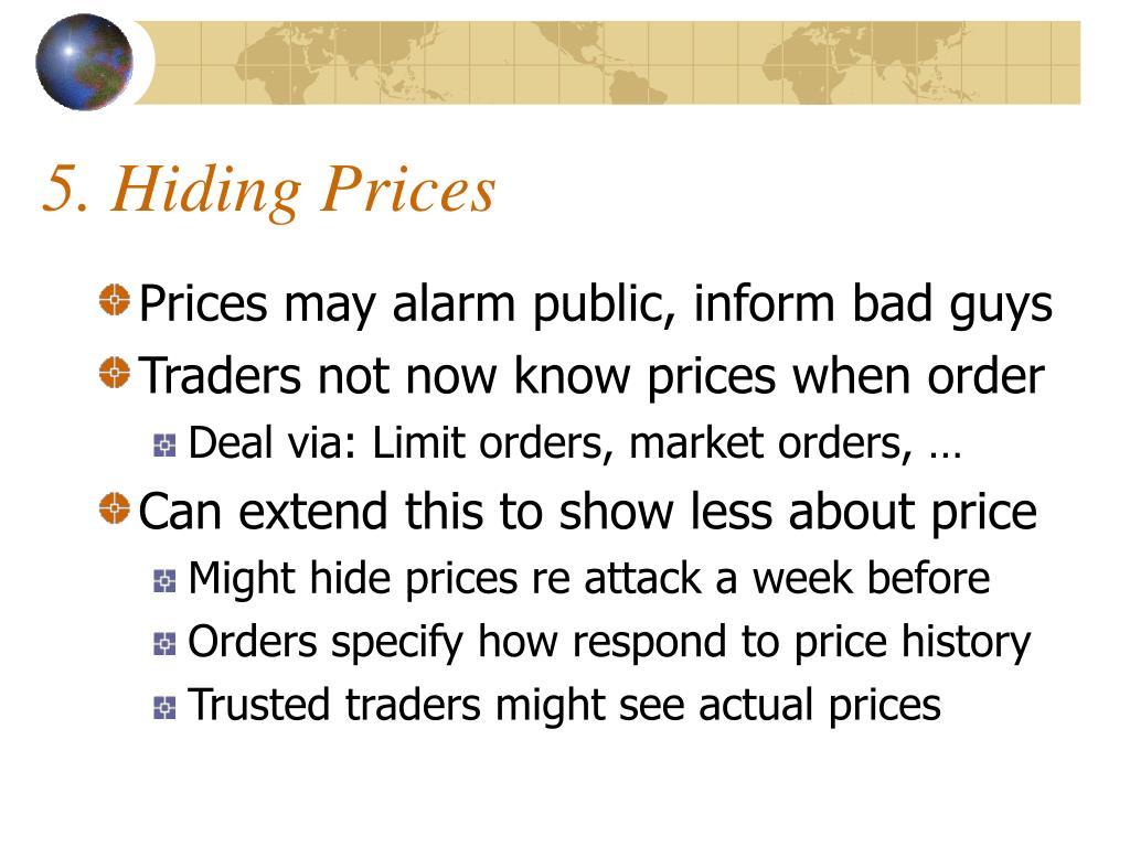 5. Hiding Prices