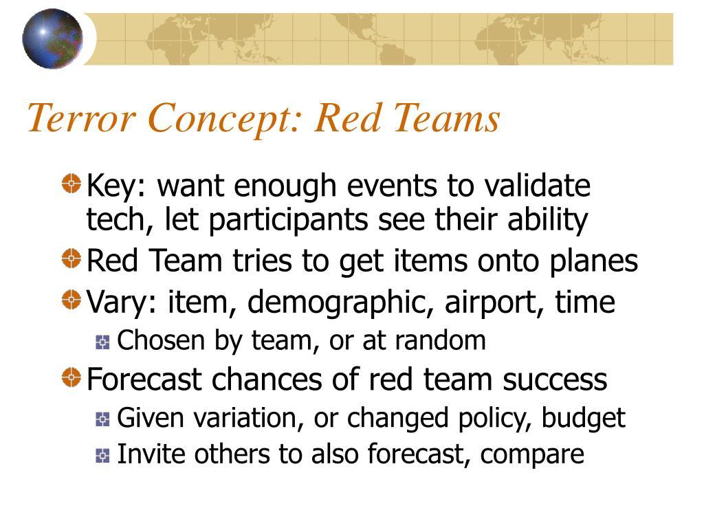 Terror Concept: Red Teams