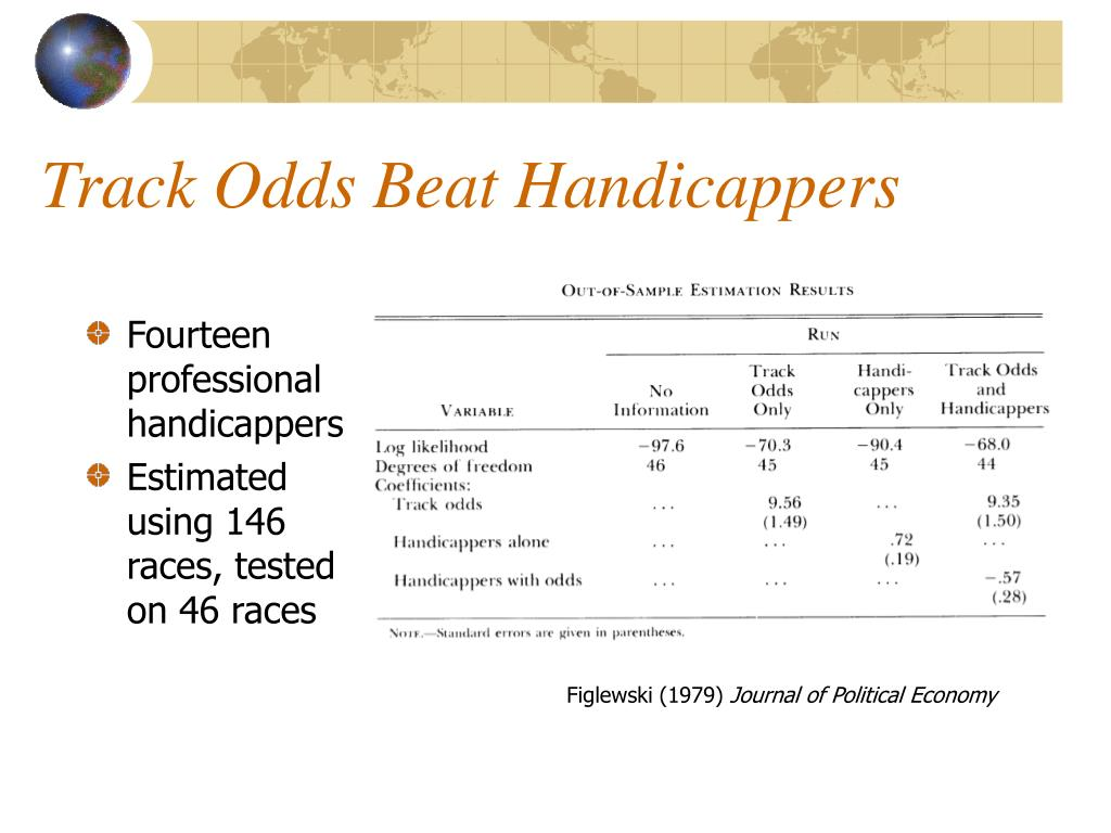 Fourteen professional handicappers