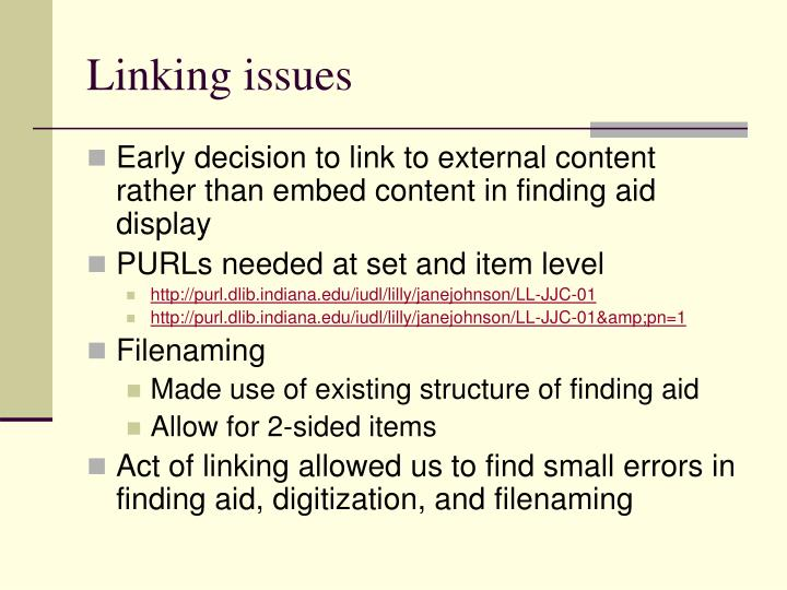 Linking issues
