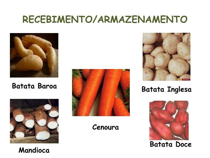 RECEBIMENTO/ARMAZENAMENTO