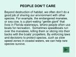 people don t care