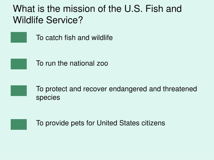 What is the mission of the U.S. Fish and Wildlife Service?