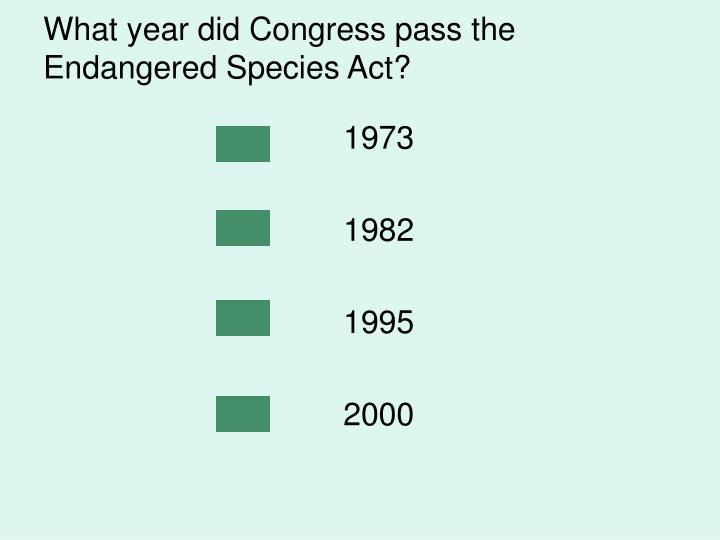 What year did Congress pass the Endangered Species Act?