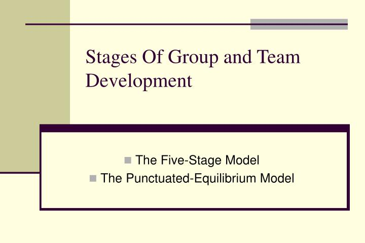 Stages Of Group and Team Development