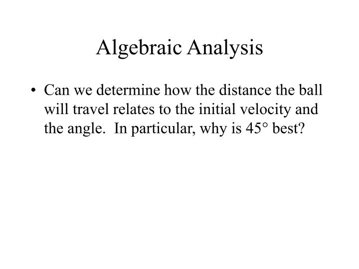 Algebraic Analysis