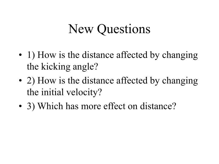 New Questions