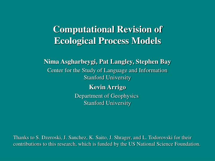 Computational Revision of
