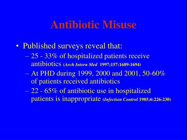 Antibiotic Misuse