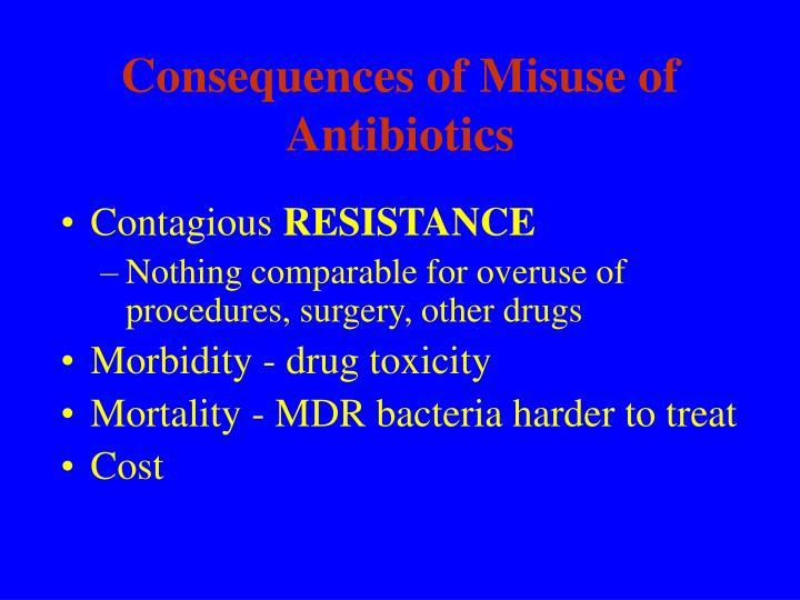 Consequences of Misuse of  Antibiotics
