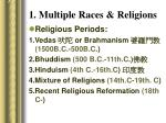 1 multiple races religions