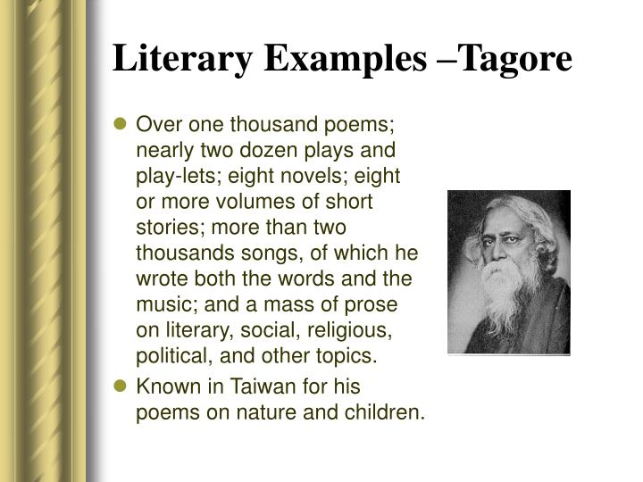 Literary Examples –Tagore
