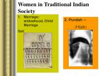 women in traditional indian society
