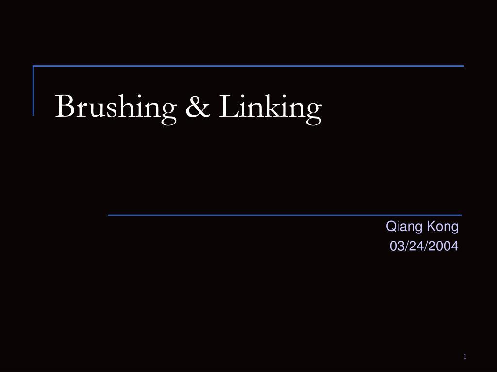 Brushing & Linking