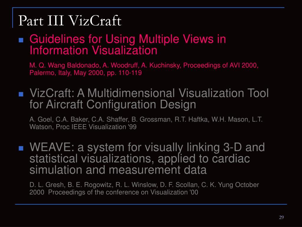 Part III VizCraft