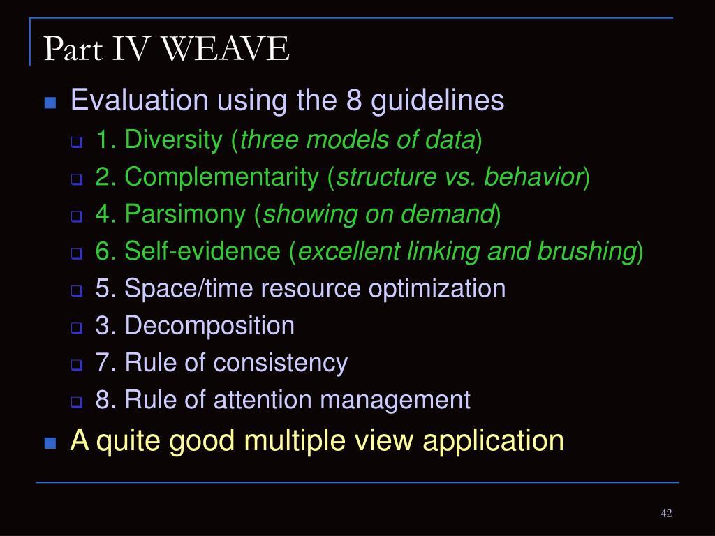 Part IV WEAVE