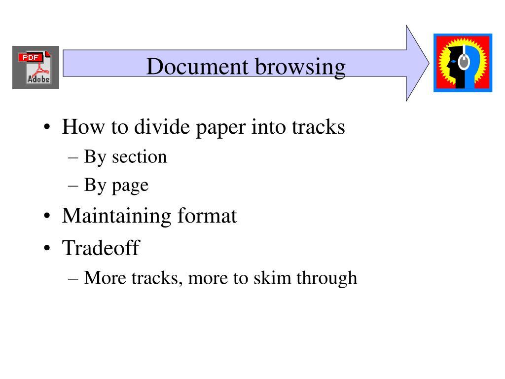 Document browsing