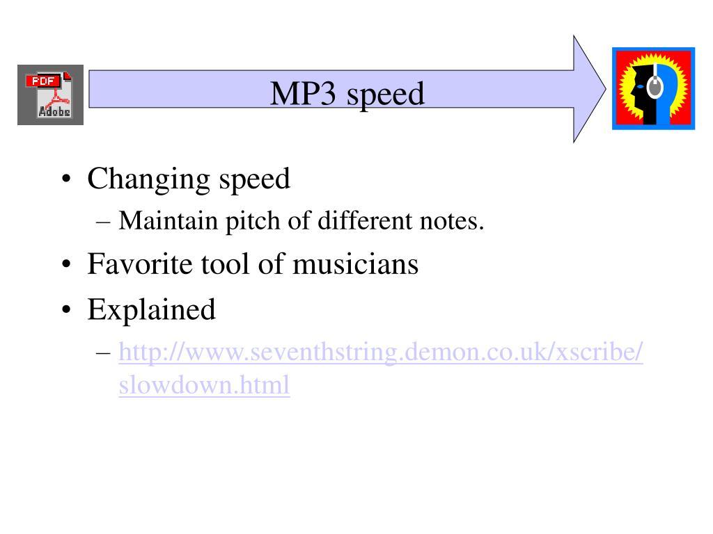 MP3 speed