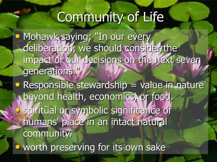 Community of Life