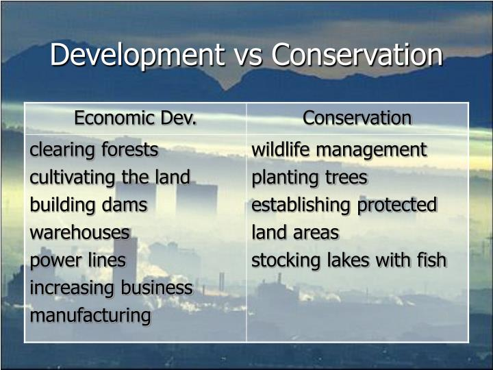 Development vs Conservation