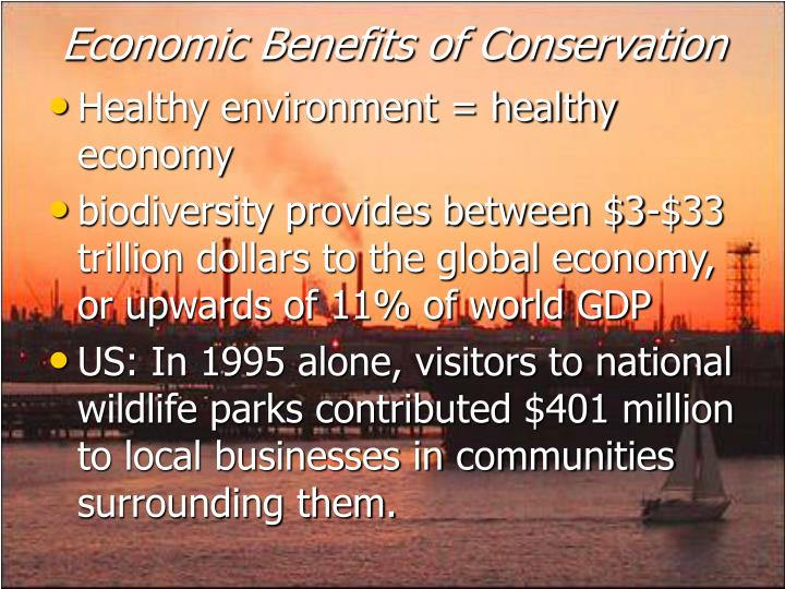 Economic Benefits of Conservation