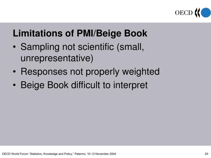 Limitations of PMI/Beige Book