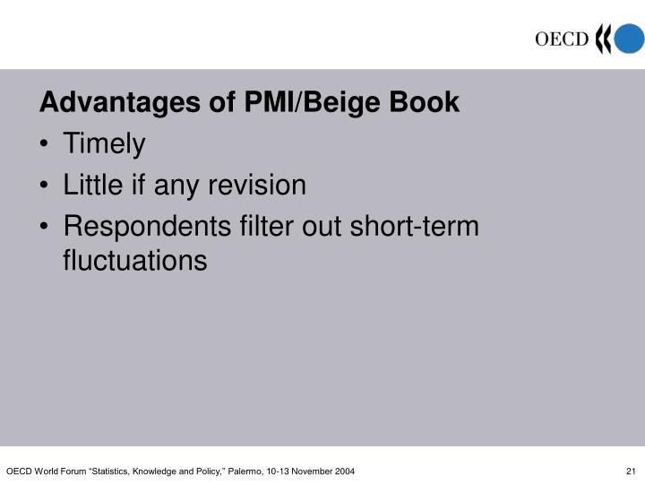 Advantages of PMI/Beige Book