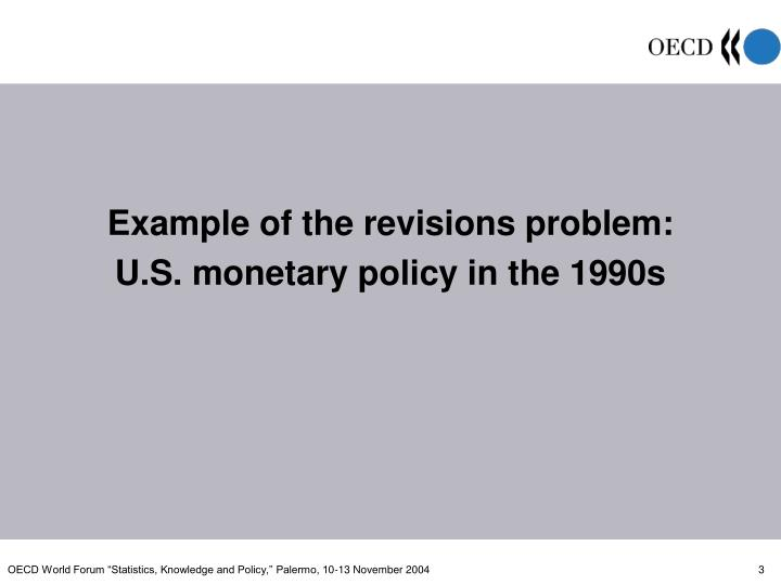Example of the revisions problem: