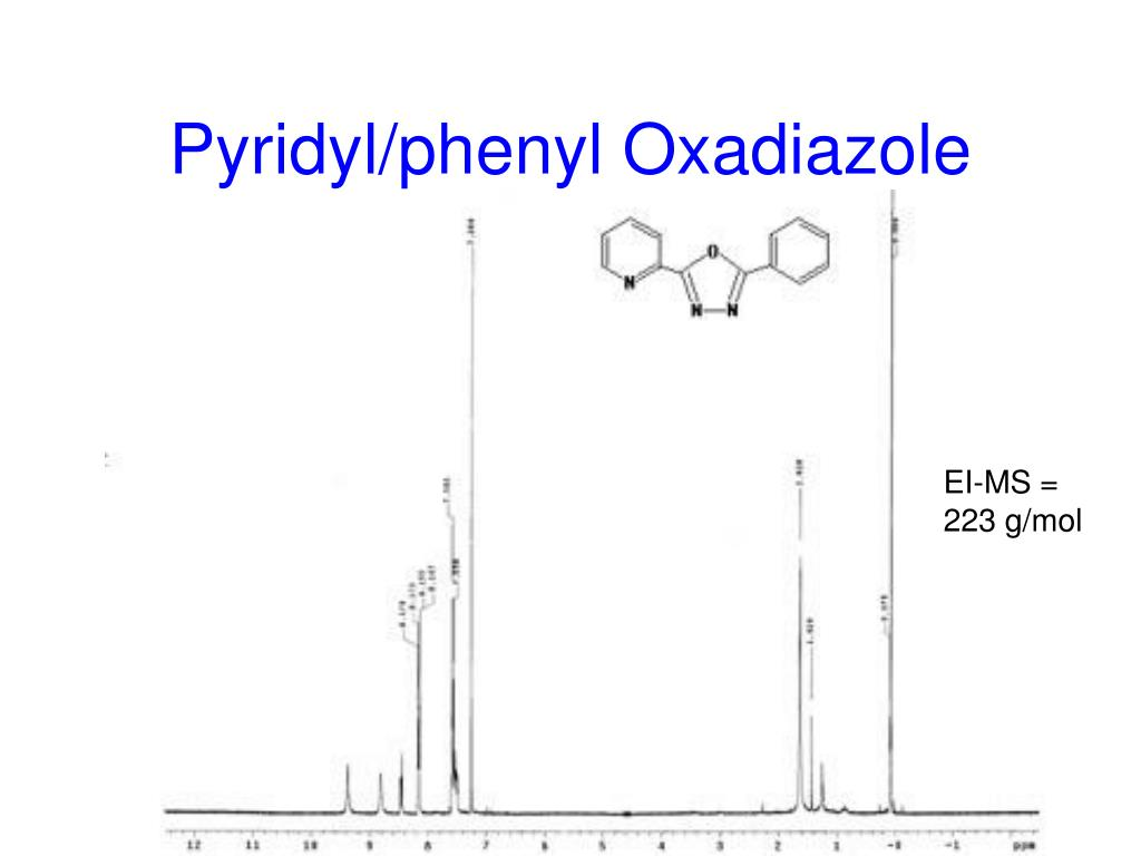 Pyridyl/phenyl Oxadiazole