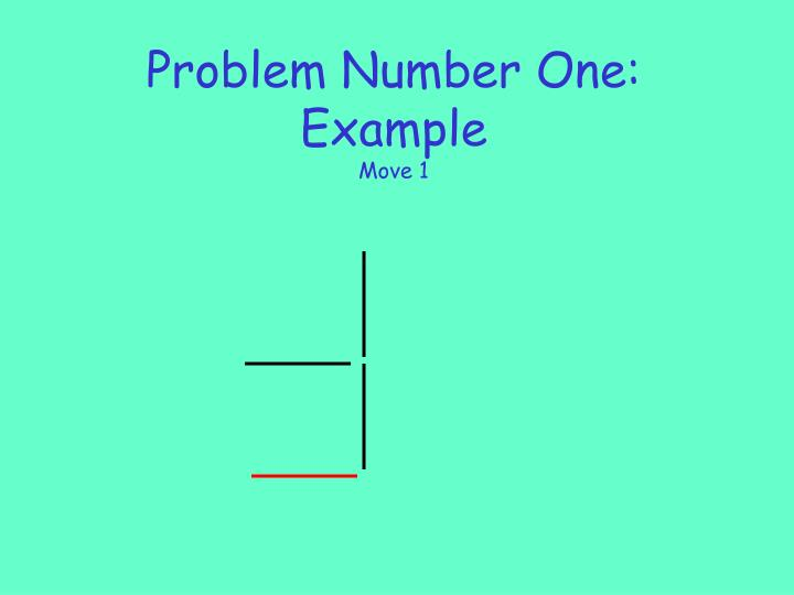 Problem number one example move 13