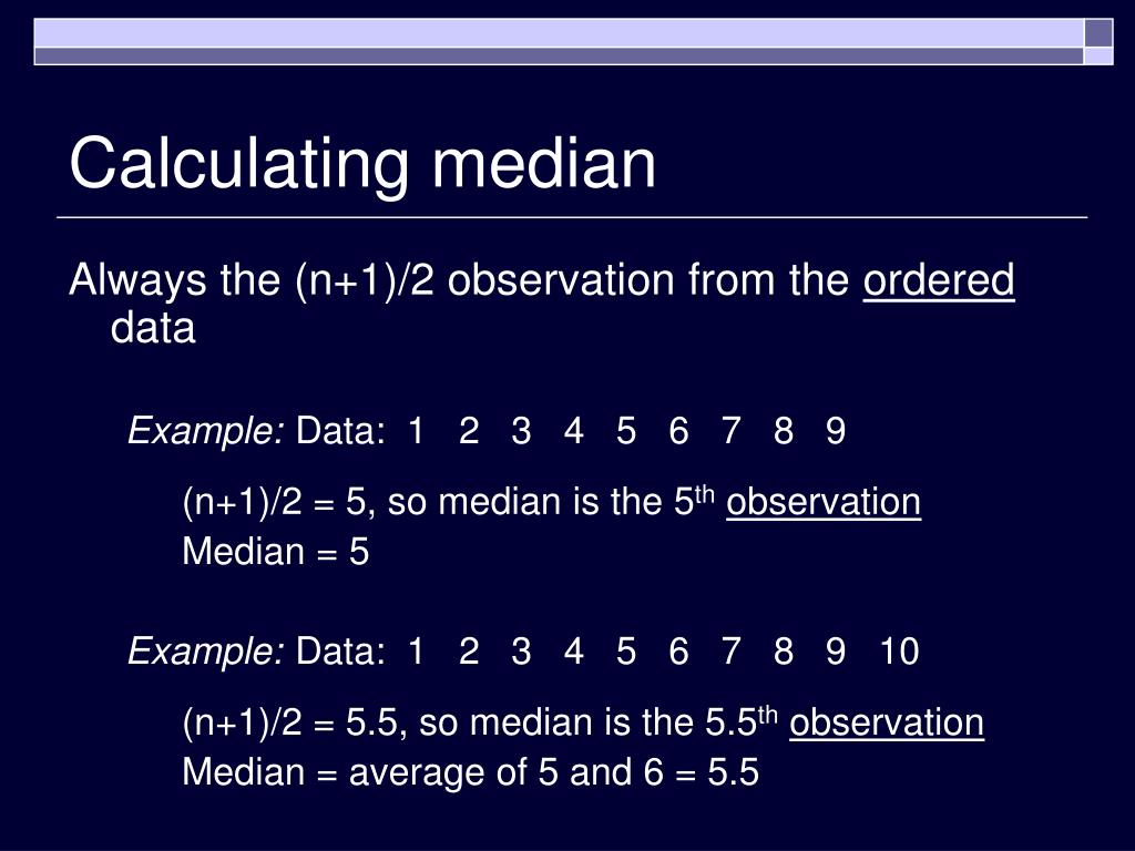 Calculating median