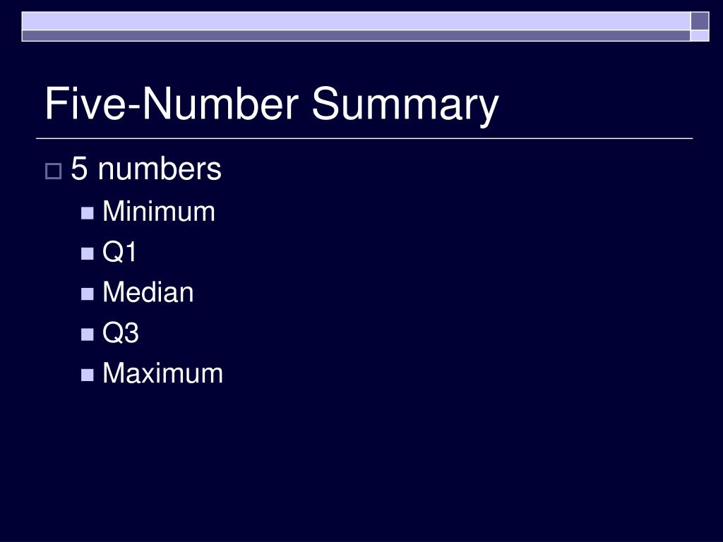 Five-Number Summary