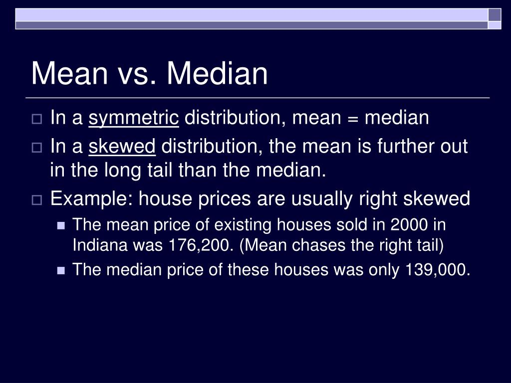 Mean vs. Median
